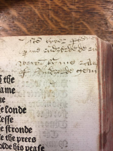 Marginal annotations in the text