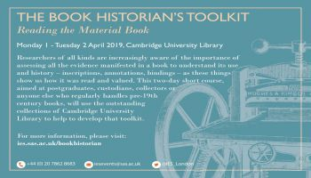 The Book Historian's Toolkit: LRBS Short Course