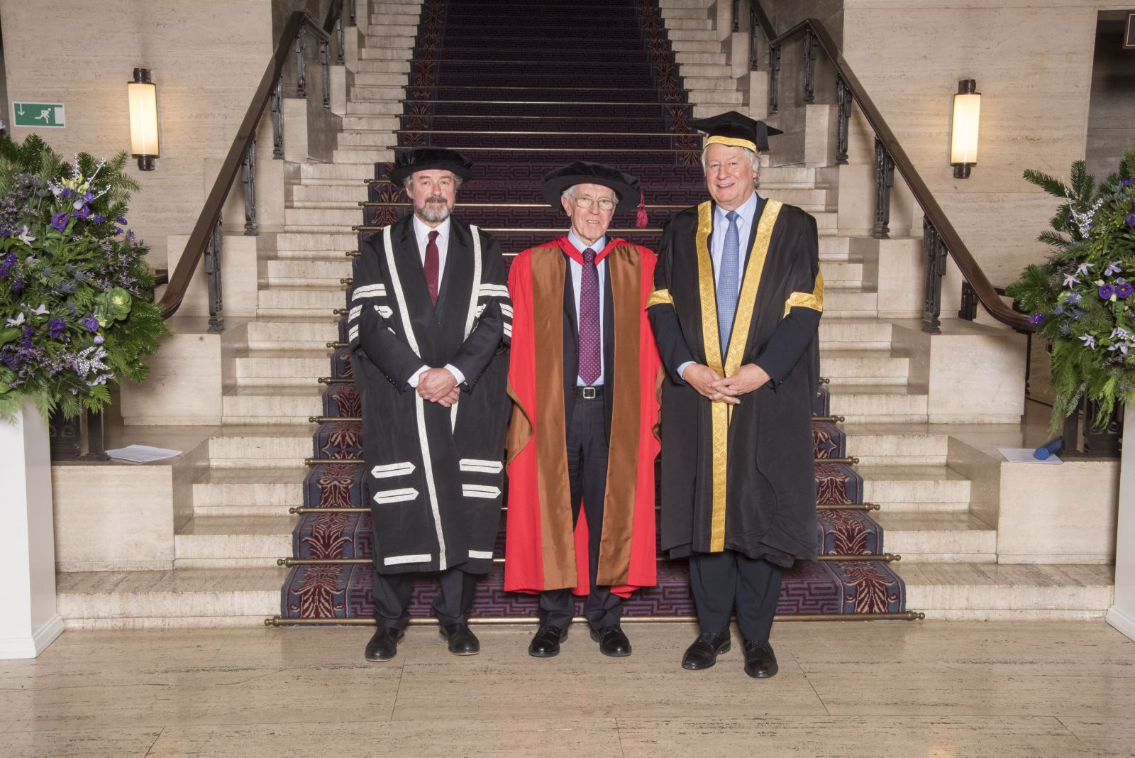 Sir Alan Wilson with Dean of the School of Advanced Study Rick Rylance (left) and Vice Chancellor of the University of London, Adrian Smith