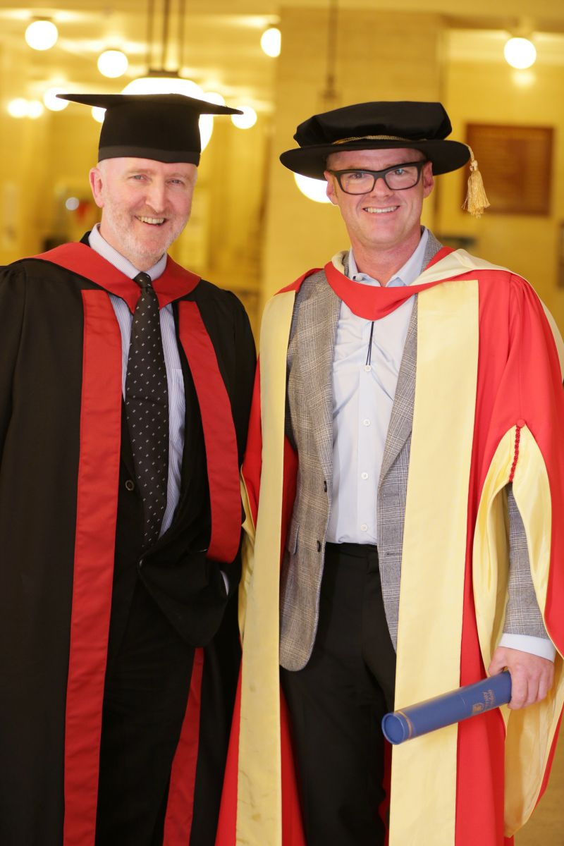 Heston Blumenthal with Director of the Institute of Philosophy, Prof Barry Smith